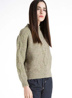 Winter Half Turtle Neck Knitted Sweater
