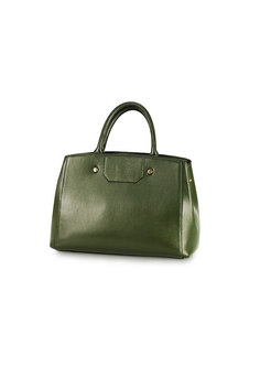 Green Cowhide Top Handle & Crossbody Bag