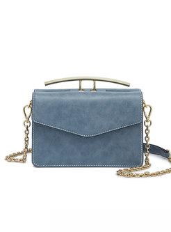 Stylish Blue Accordion-shape Easy-matching Crossbody Bag