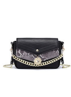 Black Retro Magnetic Lock Mini Crossbody Bag