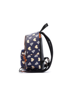 Fashion Deep Blue All-matched Printed Backpack