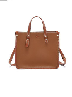 Vintage Caramel Easy-matching Top Handle & Crossbody Bag