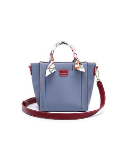 Stylish Blue Wing-shape Zipper Pocket Top Handle Bag