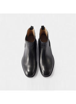 Classic Genuine Leather Ankle Boot