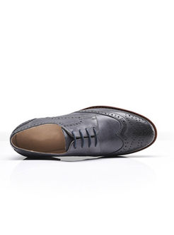 Vintage Genuine Leather Lace Up Oxford