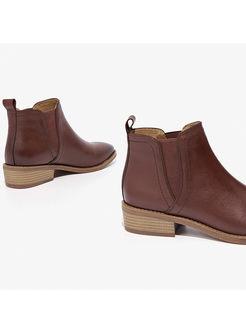 Women Winter Flat Heel Ankle Boots