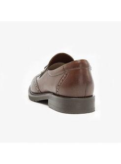 Retro Tassel Flat Round Toe Loafers