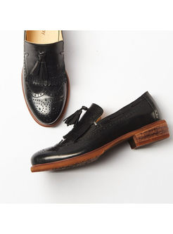 Casual Daily Tassel Genuine Leather Loafers