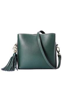 54ee4732c0ed Stylish Genuine Leather Zipper Pocket Crossbody Bag
