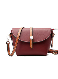 Chic Color-blocked Easy-matching Crossbody Bag