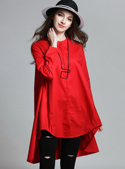 Casual Cotton Long Sleeve Loose T-Shirt Dress