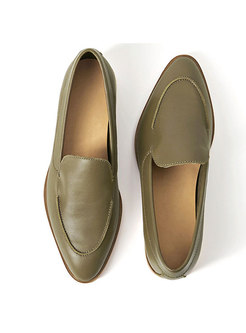 Vintage Flat Heel Pointed Toe Loafers