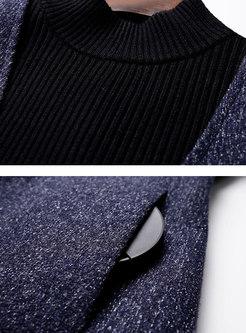 Fashion Black Knitted Top & High Waist A Line Strap Dress