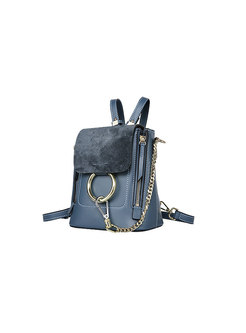Blue Spring Circle Magnetic Lock Backpack