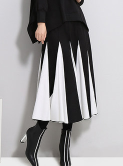 Fashion High Waist Easy-matching Pleated Skirt