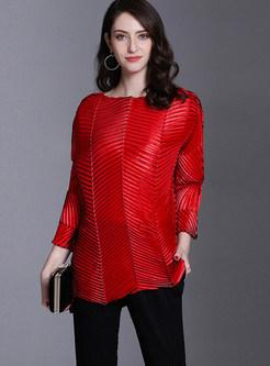 Casual Brief Irregular Selvedge Plus Size T-shirt