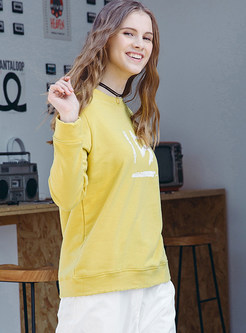 Casual O-neck Long Sleeve Digital Print Sweatshirt