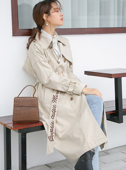 Lapel Double-breasted Loose Knee-length Trendy Coat