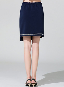 High Waist Easy-matching Asymmetric Mini Skirt