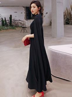 Vintage Casual Kimono Sleeve Waist Wide Leg Jumpsuits
