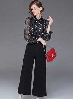 Casual Lace Splicing Bowknot Tied Waist Jumpsuits