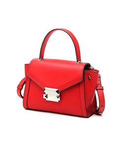 Brief Clasp Lock Top Handle & Crossbody Bag