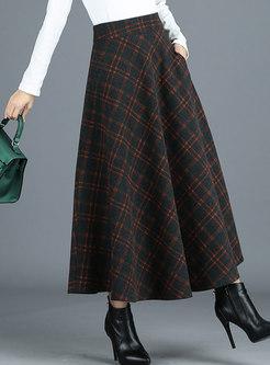 Elegant Plaid A Line Skirt