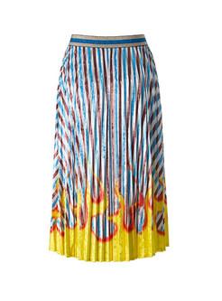 Fashion Elastic Waist Big Hem Pleated Skirt