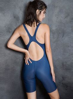 Sexy Sleeveless Backless One Piece Swimwear