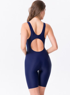 Elastic Print Dry Fast One Piece Swimwear