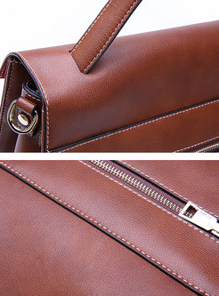 Brief Leather Top Handle & Crossbody Bag