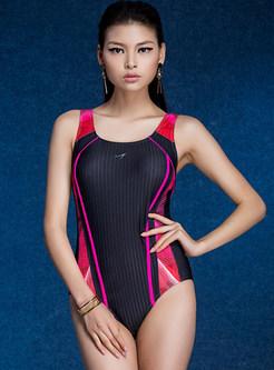 Gathered Slim Conservative One Piece Swimwear