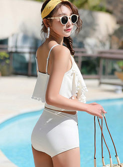 V-neck High Waist Cover-up Swimwear