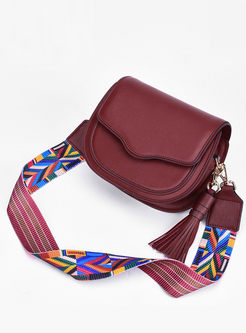 Stylish Leather Tassel Crossbody Bag
