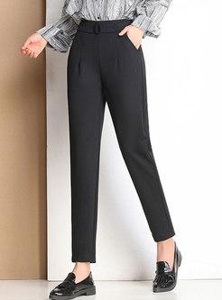 Chic Black Spring/Summer Harem Pants
