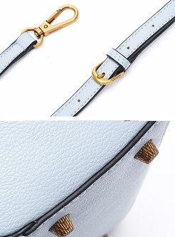 Vintage Magnetic Lock Buckle Crossbody Bag