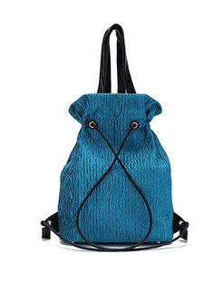 Chic Color-blocked Casual Pocket Backpack