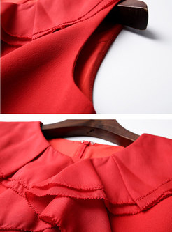 Pure Color Sleeveless High Waist Bodycon Dress