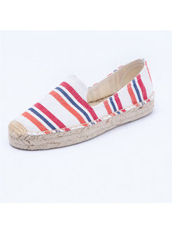 Casual Daily Canvas Striped Loafers