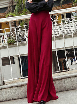 Casual High Waist Big Hem Maxi Skirt