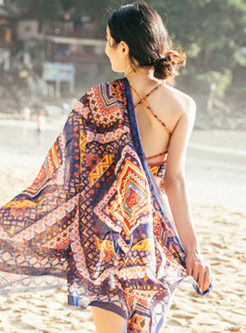 Stylish Halter Tassel Cover-up Swimwear