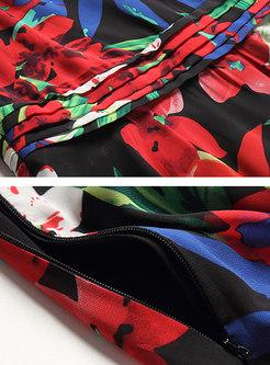 Stylish Multicolor Print Sleeveless Maxi Dress