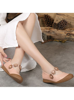 Stylish Flower Women Daily Flat Shoes