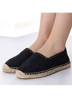 Stylish Lace Selvedge Flat Shoes