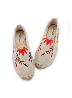 Vintage Embroidered Fisherman Shoes