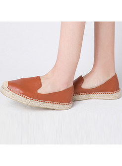 Stylish Genuine Leather Flat Casual Loafers