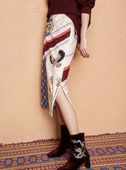 Fashion High Waist Animal Print Skirt