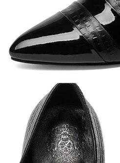 Fashion Pointed Toe Lace-paneled Shoes