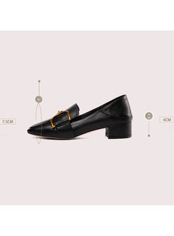 Women Brief All-matched Chunky Heel Shoes