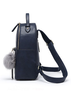 Vintage Cat Pattern Zipper PU Backpack